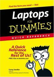 Laptops For Dummies Quick Reference (For Dummies (Computer/Tech))