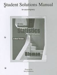 Student's Solutions Manual To Accompany Elementary Statistics