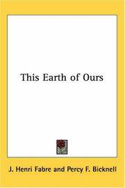 This Earth of Ours