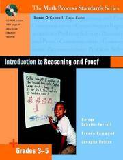 Introduction to Reasoning and Proof, Grades 3-5 (The Math Process Standards Series)