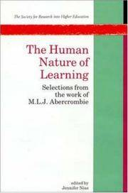 Human Nature of Learning: Selections from the Work of M.L.J.Abercrombie (Society for Research...