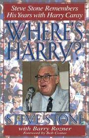 Where's Harry? *SIGNED