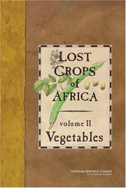 image of Lost Crops of Africa: Vegtables: Vol 2