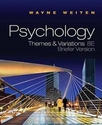 image of Psychology: Themes and Variations Brief 8th Edition