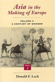 Asia in the Making of Europe, Volume II: A Century of Wonder. Book 2: The Literary Arts