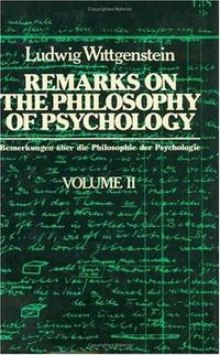 Remarks on the Philosophy of Psychology.  2 Volumes as a Set