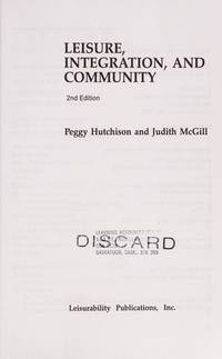Leisure, Integration and Community, 2nd Edition