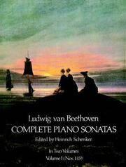 Ludwig Van Beethoven Complete Piano Sonatas Volume 1