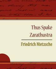 image of Thus Spake Zarathustra - Friedrich Nietzsche