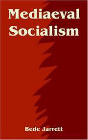 Mediaeval Socialism by  Bede Jarrett - Paperback - Reprint  - 2004 - from Henry Stachyra, Bookseller and Biblio.com