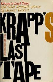 image of Krapp's Last Tape: and other dramatic pieces