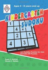 Kingergarten Sudoku: 4x4 Sudoku Puzzles for Kids