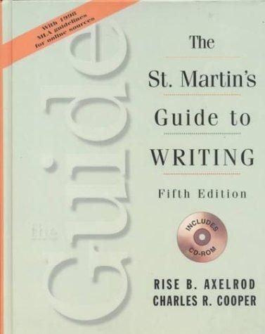 st martins guide to writing The st martin's guide to read more about students, writing, essay, chapter, class and activity.