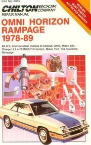 Omni Horizon Rampage 1978-89 Repair Manual