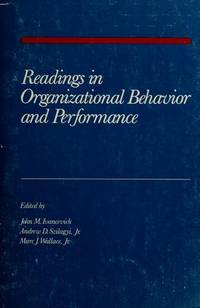 Readings in organizational behavior and performance