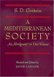 image of A Mediterranean Society: An Abridgment in One Volume
