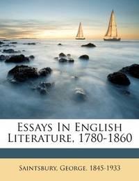 Essays In English Literature, 1780-1860