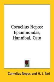 image of Cornelius Nepos: Epaminondas, Hannibal, Cato