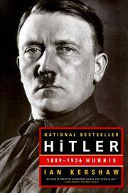 Hitler: 1889-1936 Hubris by Ian Kershaw - Paperback - 2000-05-06 - from Books Express and Biblio.com
