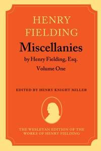 Miscellanies, By Henry Fielding, Esq