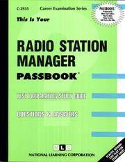 Radio Station Manager(Passbooks) [Plastic Comb] [Dec 01, 2014] Jack Rudman - Used Books