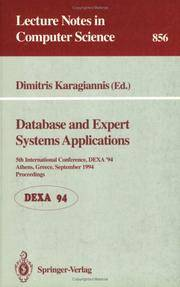Database and Expert Systems applications Lecture Notes in Computer Science  No. 856 by Karagiannis, Dimitris (ed.) - 1994