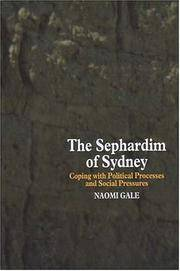 The Sephardim of Sydney: Coping with Political Processes and Social Pressures.