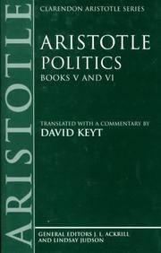 image of Aristotle: Politics, Books V and VI (Hardback)