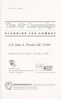 The Air Campaign-Planning for Combat