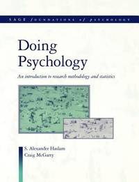 Doing Psychology: An Introduction to Research Methodology and Statistics (SAGE Foundations of...