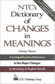 Ntc\'s Dictionary Of Changes In Meaning