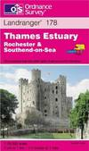 image of Thames Estuary - Rochester and Southend-on-Sea (Landranger Maps)