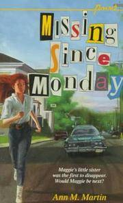 Missing Since Monday (Point) by  Ann M Martin - Paperback - 1994 - from Your Online Bookstore and Biblio.com