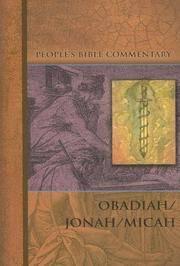 Obadiah/Jonah/Micah (People's Bible Commentary Series)