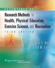 ESSENTIALS OF RESEARCH METHODS IN HEALTH, PHYSICAL EDUCATION, EXERCISE SCIENCE, AND RECREATION /...