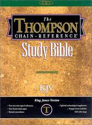 image of Thompson Chain Reference Bible (Style 539black) - Handy Size KJV - Bonded Leather