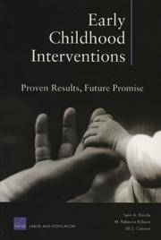 Early Childhood Interventions: Proven Results, Future Promise by Lynn A. Karoly - Paperback - 2006-09-02 - from Books Express and Biblio.com