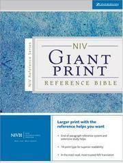 NIV Holy Bible Giant Print Reference Edition