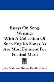 Essays On Song-Writing