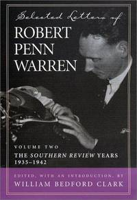 image of Selected Letters of Robert Penn Warren: The Apprentice Years 1924--1934 (Southern Literary Studies) (v. 1)