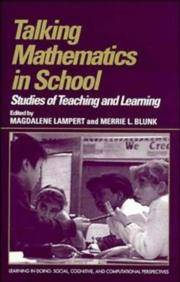 TALKING MATHEMATICS IN SCHOOL: STUDIES OF TEACHING AND LEARNING