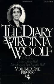 The Diary Of Virginia Woolf, Vol 1