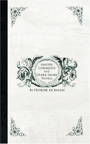 image of Maitre Cornelius and Other Short Novels