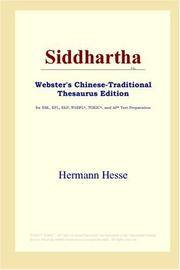 image of Siddhartha (Webster's Chinese-Traditional Thesaurus Edition)