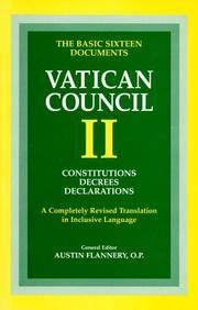 Vatican Council II: Constitutions, Decrees, Declarations (Vatican Council II) (Vatican Council II)