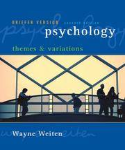 image of Psychology : themes and variations Briefer Version 7th Edition