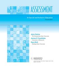 image of Assessment In Special and Inclusive Education