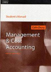 Management and Cost Accounting by Colin Drury - Paperback - 5th - 2000-03-01 - from Ergodebooks and Biblio.com