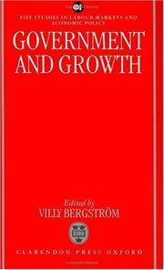 Government and Growth (FIEF Studies in Labor Markets and Economic Policy)