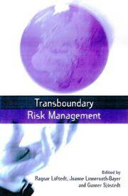 Transboundary Risk Management by  et al. [eds.]  Joanne - Paperback - 2001 - from CARDINAL BOOKS ~~ ABAC/ILAB and Biblio.com